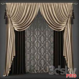Curtains 20 3d model Download 3dbrute