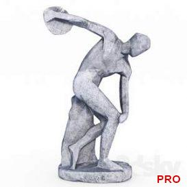 The Discobolus in style Low Poly 21 3d model Download 3dbrute