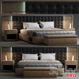 The visionnaire Ripley bed  3d model  Buy Download 3dbrute
