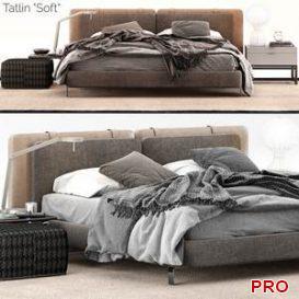 Minotti Tatlin Soft Bed  3d model  Buy Download 3dbrute