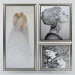 String art paintings  3d model  Buy Download 3dbrute