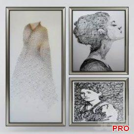 String art paintings  3d model  Buy Download 3dbrute