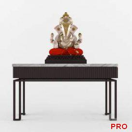 New Modern console and ganeshji  3d model  Buy Download 3dbrute