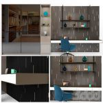 wardrobe and study table  3d model  Buy Download 3dbrute