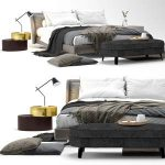 Spencer bed by Minotti