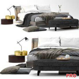 Spencer bed by Minotti  3d model  Buy Download 3dbrute