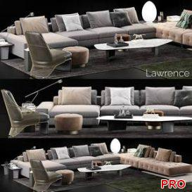 Minotti Lawrence Sofa 25 3d model Download 3dbrute