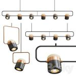 Ling PL6-4-1 Linear Suspension Light 30 3d model Download 3dbrute