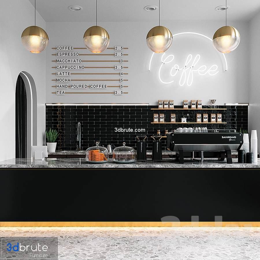 COFFEE SHOP 3d model 3dsmax