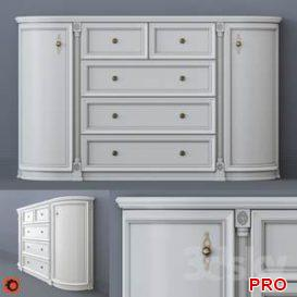 White chest of drawers  3d model  Buy Download 3dbrute