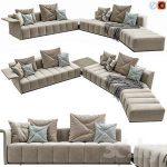 Minotti Freeman Lounge Arrangement 04 34 3d model Download 3dbrute