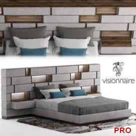 Bed visionnaire emotion  3d model  Buy Download 3dbrute