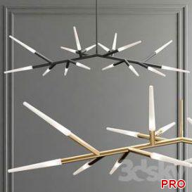 Contemporary Multi Tube LED Chandelier 36 3d model Download 3dbrute