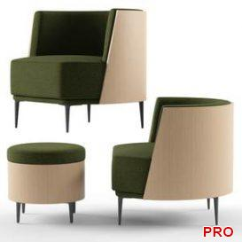 Sitia Pergy Armchair  3d model  Buy Download 3dbrute