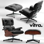 Armchair Vitra Lounge Chair  3d model  Buy Download 3dbrute