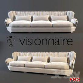 Visionnaire Hemingway sofa  3d model  Buy Download 3dbrute