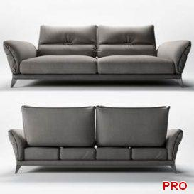 ITINERAIRE LARGE 3-SEAT SOFA 9 3d model Download 3dbrute