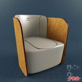 Bentley Royce Armchair 3 3d model Download 3dbrute