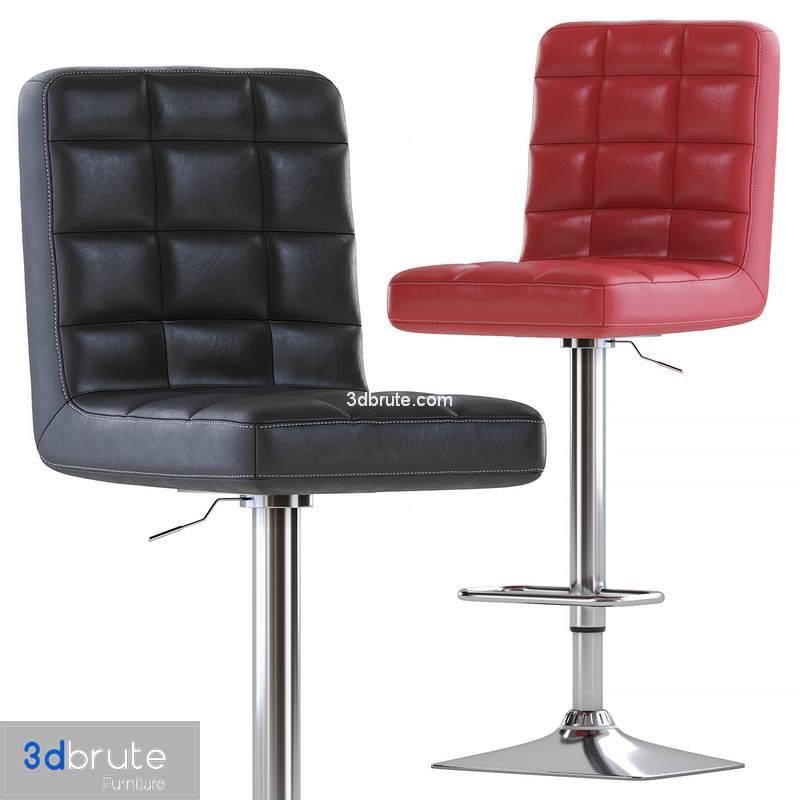 Fine Axel High Back Adjustable Bar Stool Set Of 2 Black Download 3D Models Free 3Dbrute Forskolin Free Trial Chair Design Images Forskolin Free Trialorg