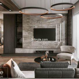 Livingroom corona 3dsmax download free