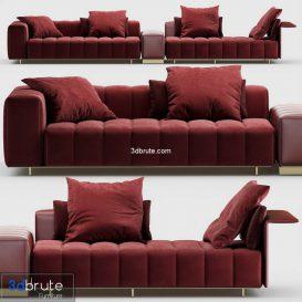 Minotti Freeman seating system 3d model (1)