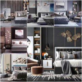 Sell Bed set vol1 2019 3d model