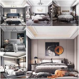 Sell Bed set vol2 2019 3d model Download 3dbrute