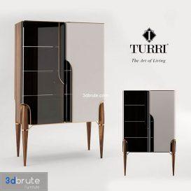 Turri vitrine cabinet 3d model (3)