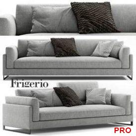 Frigerio Salotti Davis In Sofa 3d model Download 3dbrute