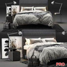 IKEA OPPLAND Bed 3d model Download 3dbrute