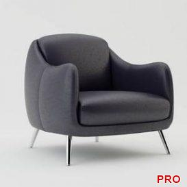 Natuzzi Platea 2661 Chair 3d model Download 3dbrute