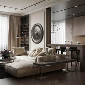 85m2 modern apartment - the perfect combination of texture and comfort