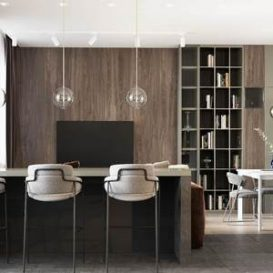 90m2 contemporary young family design Kapralova Nastya