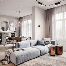 90m2 minimalist design Monet vs Manet