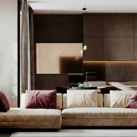 Gray-yellow toned apartment design
