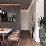 Neiman Design – warm orange and wood brown 145m2 Kiev PENTHOUSE