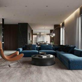 S. Karmalova 250m2 Jaguar Apartments in Almaty