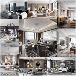 Sell Living room Post Modern vol 7 set 3d model