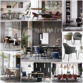 Sell Table and chair vol3 2019 3d model