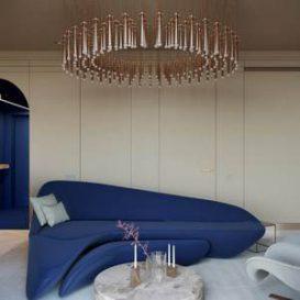 Space Stardust - Moscow Minimalist Light Luxury Apartment buro51