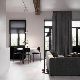Ukraine 46m2 simple apartment design Julia Siriak