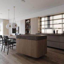 Warm wood color · Kiev young family apartment Stephen Tsimbalyuk