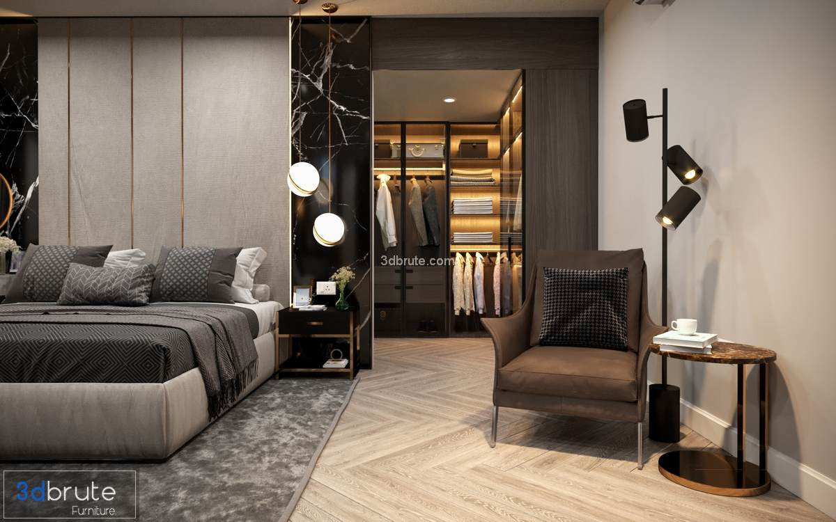 bedroom corona 3dsmax 3d model