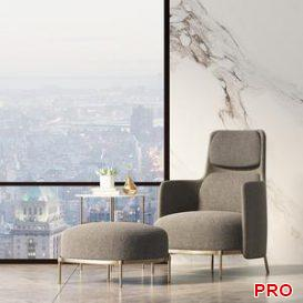Minotti Armchair 99 3d model Download  Buy 3dbrute