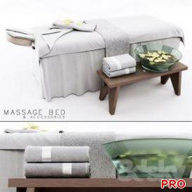 Massage Bed 3d model Download 3dbrute