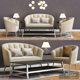 Armchair maya Mid Century Modern Furniture by BRABBU 3d model Download  Buy 3dbrute