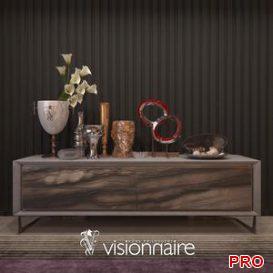Visionnaire decor set 3d model Download 3dbrute