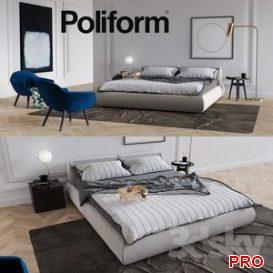 Set from Poliform Bolton 3d model Download  Buy 3dbrute
