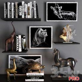 Decorative set 23 3d model Download  Buy 3dbrute