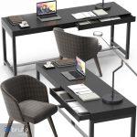 Minotti Fulton desk set